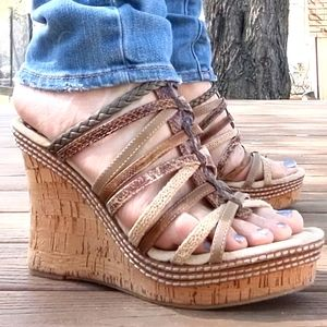 Two Lips Bohemian Wedges, size 9